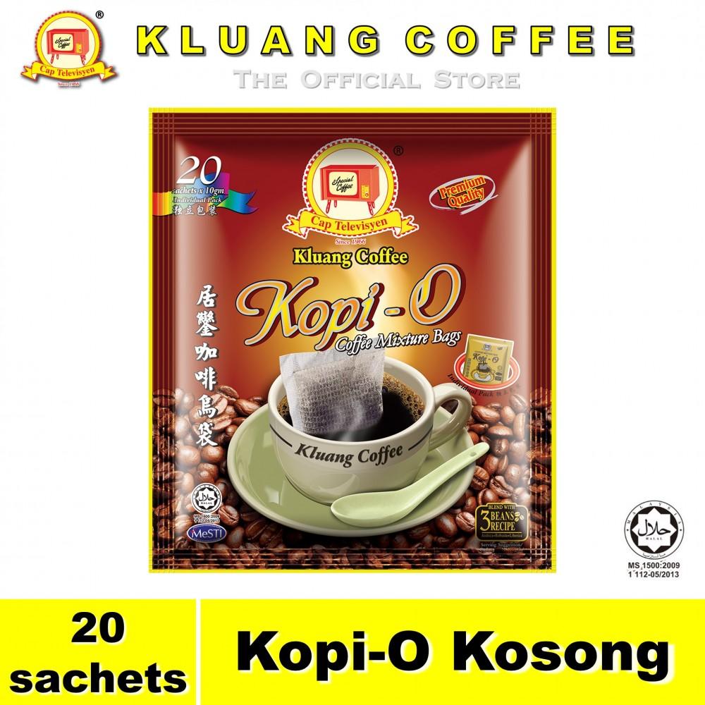 Kluang Black Coffee Kopi-O【20 sachets】CAP TELEVISYEN