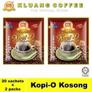 image of Kluang Black Coffee Kopi-O【20 sachets x 2 packs】CAP TELEVISYEN