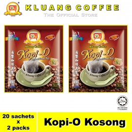 image of Kluang Black Coffee Kopi-O【20 sachets x 2 packs】CAP TELEVISYEN
