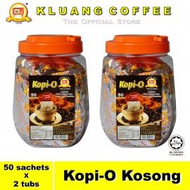 image of Kluang Black Coffee Kopi-O【50 sachets x 2 tubs】CAP TELEVISYEN