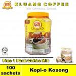Kluang Black Coffee Kopi-O【100 sachets】CAP TELEVISYEN & Free Gift
