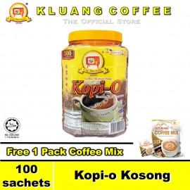 image of Kluang Black Coffee Kopi-O【100 sachets】CAP TELEVISYEN & Free Gift