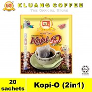 image of Kluang Black Coffee Kopi-O (2in1) with Sugar【20 sachets】CAP TELEVISYEN