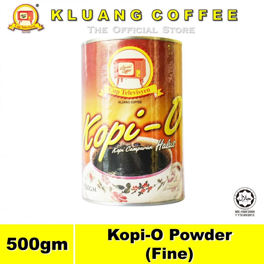 Kluang Black Coffee Kopi-O Powder Fine【500gm】CAP TELEVISYEN