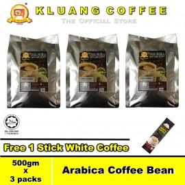 image of Kluang 100% Arabica Pure Coffee Bean【500gm x 3 packs】CAP TELEVISYEN