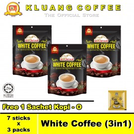 image of Kluang Mountain White Coffee (3in1)【7 sticks x 3 packs】CAP TELEVISYEN