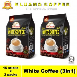 image of Kluang Mountain White Coffee (3in1)【15 sticks x 2 packs】CAP TELEVISYEN