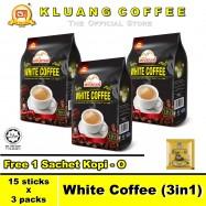 image of Kluang Mountain White Coffee (3in1)【15 sticks x 3 packs】CAP TELEVISYEN