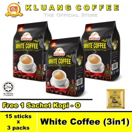 image of Kluang Mountain White Coffee (3in1)【15 sticks x 3 packs】CAP TELEVISYEN