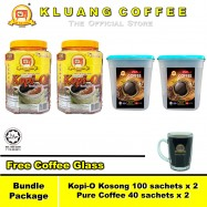 image of Kluang Coffee Cap Televisyen Kopi-O and Pure Coffee【Bundle Package】