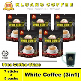 image of Kluang Mountain White Coffee (3in1)【7 sticks x 5 packs】CAP TELEVISYEN