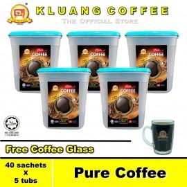 image of Kluang Pure Coffee 100% Coffee【40 sachets x 5 tubs】CAP TELEVISYEN