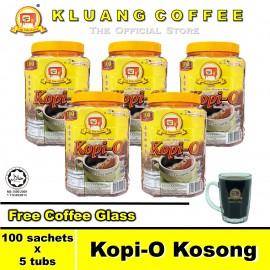 image of Kluang Black Coffee Kopi-O【100 sachets x 5 tubs】CAP TELEVISYEN