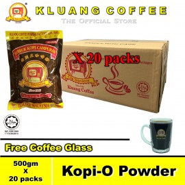 image of Kluang Coffee Kopi-O Powder (500gm x 20 packs) Cap Televisyen