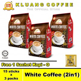 image of Kluang Mountain White Coffee (2in1)【15 sticks x 3 packs】CAP TELEVISYEN