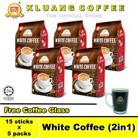image of Kluang Mountain White Coffee (2in1)【15 sticks x 5 packs】CAP TELEVISYEN