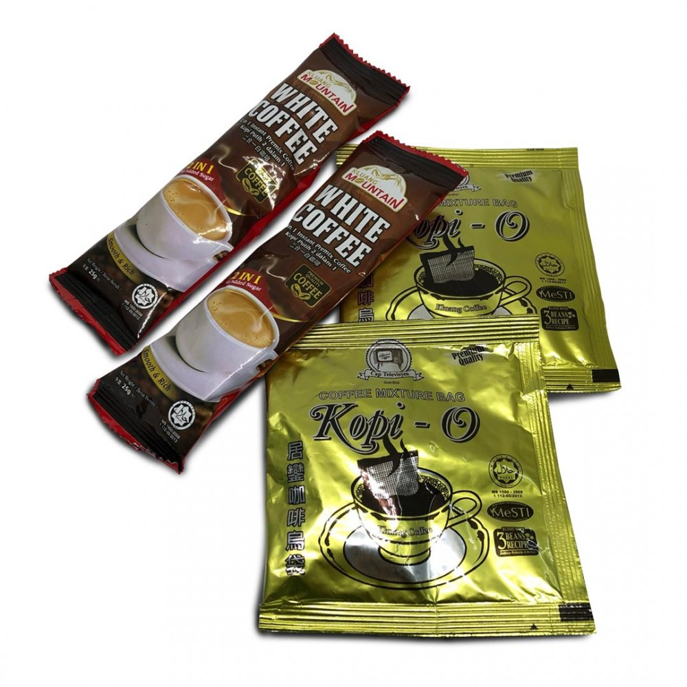 FOC 12.12 Campaign: Free a pack of coffee from Kluang Coffee (2 sachets of White Coffee & 2 sachets of Kopi-O)