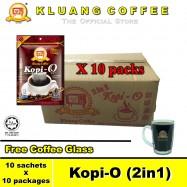 image of Kluang Black Coffee Kopi-O (2in1) with Sugar【10 packs / carton】CAP TELEVISYEN