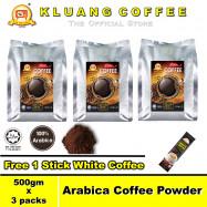 image of Kluang 100% Arabica Pure Coffee Powder【500gm x 3 packs】CAP TELEVISYEN