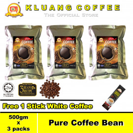 image of Kluang Pure Coffee Bean 100% Coffee【500gm x 3 packs】CAP TELEVISYEN