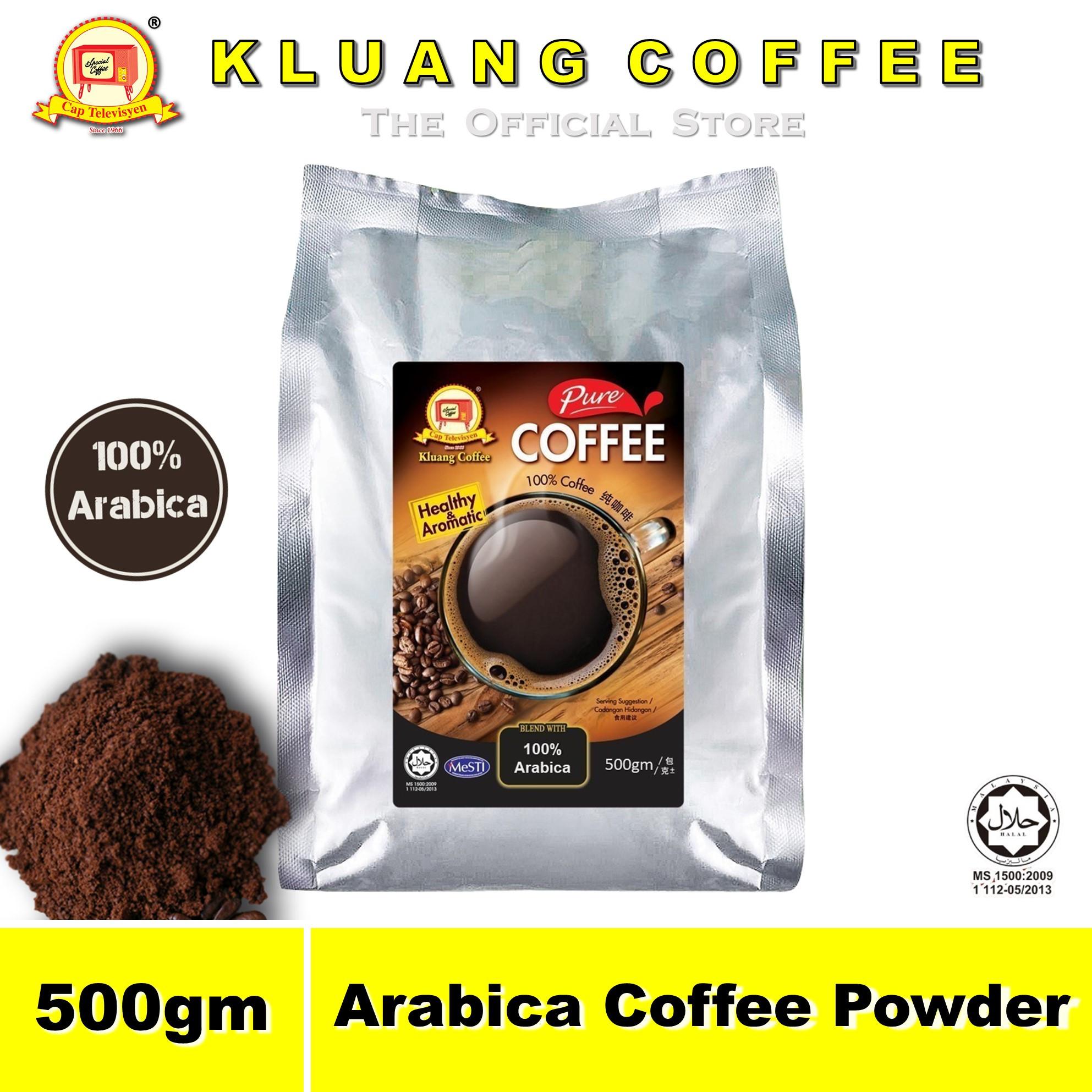 Kluang 100% Arabica Pure Coffee Powder【500gm】CAP TELEVISYEN