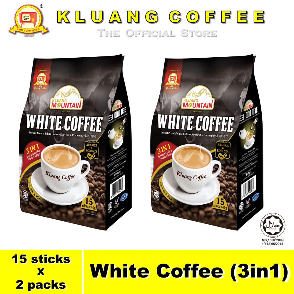 Kluang Mountain White Coffee (3in1)【15 sticks x 2 packs】CAP TELEVISYEN