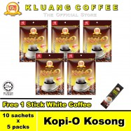 image of Kluang Black Coffee Kopi-O【10 sachets x 5 packs】CAP TELEVISYEN