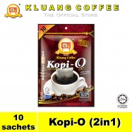 image of Kluang Black Coffee Kopi-O (2in1) with Sugar【10 sachets】CAP TELEVISYEN