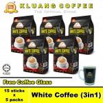 Kluang Mountain White Coffee (3in1)【15 sticks x 5 packs】CAP TELEVISYEN