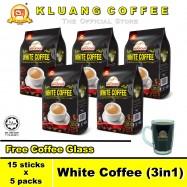 image of Kluang Mountain White Coffee (3in1)【15 sticks x 5 packs】CAP TELEVISYEN