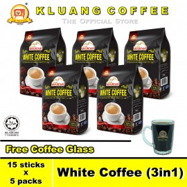 image of Kluang Mountain White Coffee (3in1)【15 sticks x 5 packs】CAP TELEVISYEN