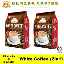 image of Kluang Mountain White Coffee (2in1)【15 sticks x 2 packs】CAP TELEVISYEN