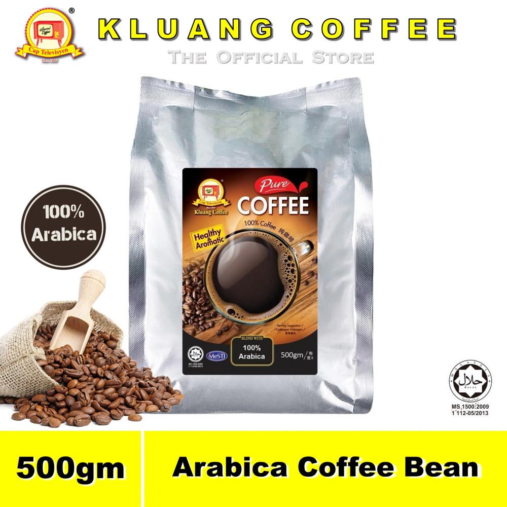 Kluang 100% Arabica Pure Coffee Bean【500gm】CAP TELEVISYEN