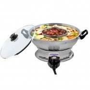 image of Hanabishi 2 In 1 Steamboat Stainless Steel 4.2L HA3922