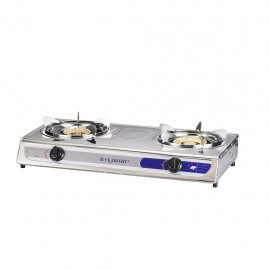 image of Hanabishi Double Burner Stainless Steel Gas Stove HG112