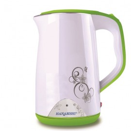 image of Hanabishi Stainless Steel Double Layer Cool Touch Electric Kettle 1.7L HA9966