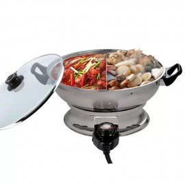 image of Hanabishi 2 in 1 Steamboat Stainless Steel Bowl 4L HA3322