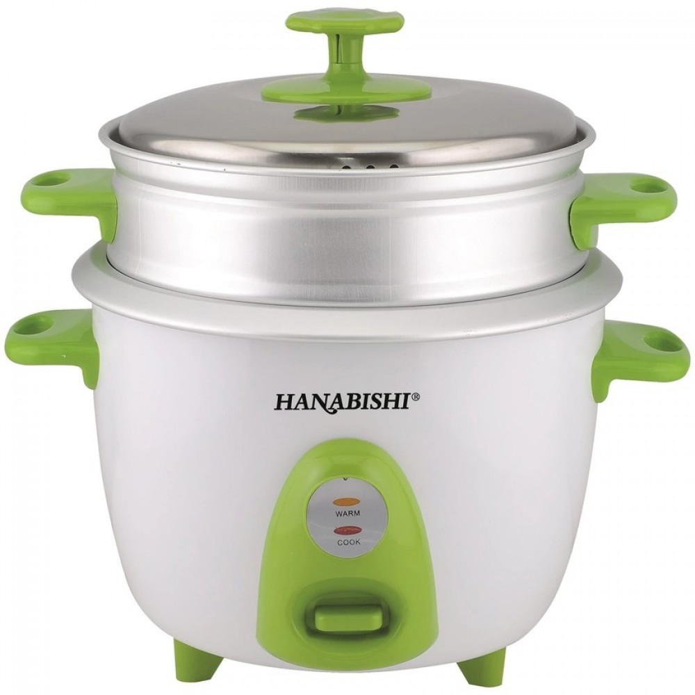 Hanabishi 1.0L Rice Cooker with Steamer HA3699STM