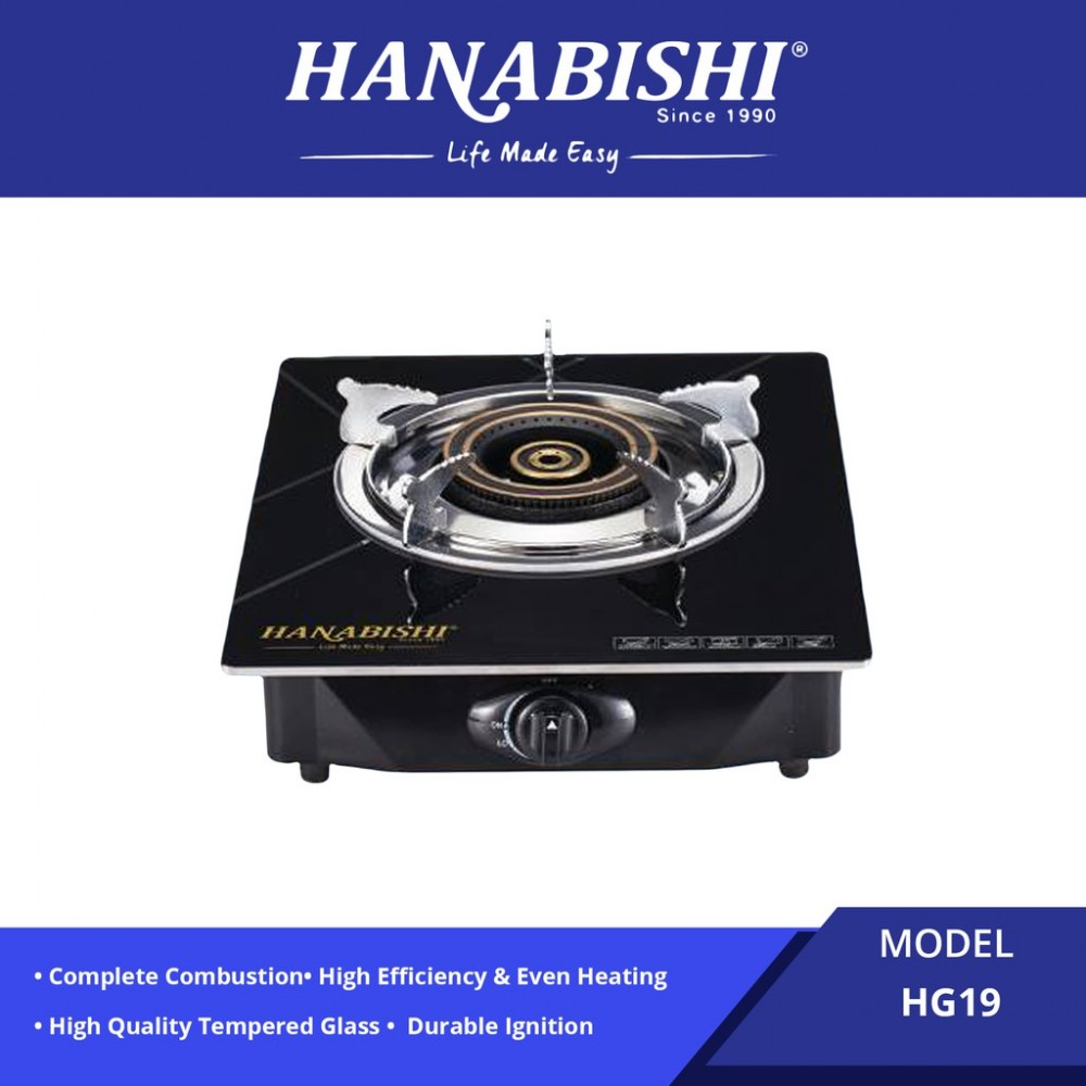 Hanabishi Glass Top Single Burner