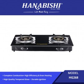 image of Hanabishi Glass Top Double Burner