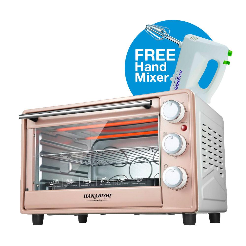 image of Hanabishi HA6223 Oven 23L FREE Hand Mixer HA737