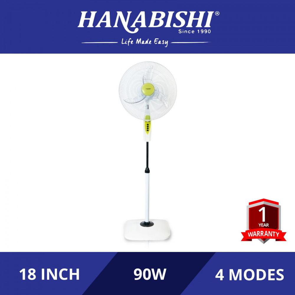 "Hanabishi Commercial Stand Fan 18"" SF318 [3 Yr Warranty on Motor]"
