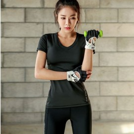 image of Quality Sport Wear 2in 1 (T-Shirt + Long Pant)Short Sleeve Dry Sport