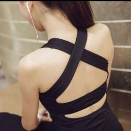 image of Ready Stock Women Sport Yoga Running Tops Shirt Slimming Singlet Vest