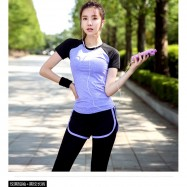 image of READY STOCK Women Fitness Gym Sport Breathable Tops Fast Dry T Shirt(Shirt Only)
