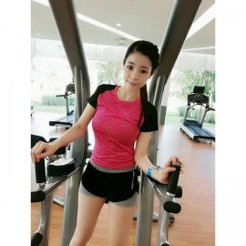 image of READY STOCK Women Quick Dry Sportwear Sport Shirt Fitness Yoga Gym Cool T-Shirt