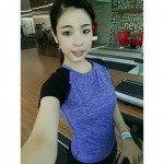 READY STOCK Women Quick Dry Sportwear Sport Shirt Fitness Yoga Gym Cool T-Shirt