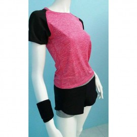 image of READY STOCK - Women Quick Dry Sportwear Sport Shirt Fitness Yoga Gym Shirt T-Shirt