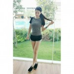 READY STOCK - Women Quick Dry Sportwear Sport Shirt Fitness Yoga Gym Shirt T-Shirt