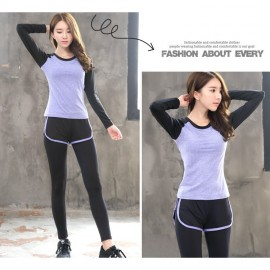 image of (Shirt Only)Women Fitness Gym T Shirt Running Sport Breathable Long Sleeve Tops